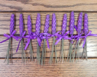 10 Purple Lavender Wands; all-natural; herbal gift; gift for her; fragrance; herbal scent; wedding favor; tea party favor