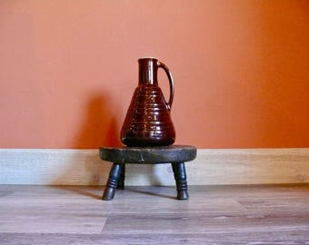 Marcrest Brown Daisy Dot Open Carafe, Colorado Brown, Marcrest Old Fashioned Ovenproof Stoneware Carafe Pitcher, Country Farmhouse Kitchen