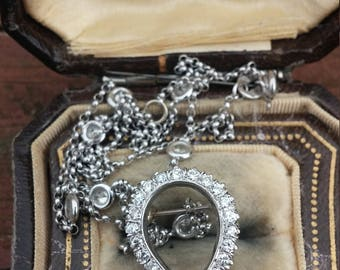 Victorian 14k Gold Diamond Horseshoe Brooch Pin