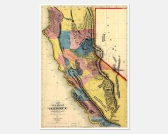 California Map, California Poster, Map of California, California State Map, California Map Art, California Map Print, California State, 171
