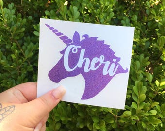 Unicorn with name decal, Yeti tumbler decals for women, monogram unicorn car stickers, name decal, always be a unicorn, I'm a unicorn decal