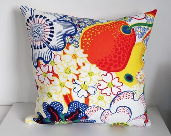 Cushion cover 18'' NIPPON, handmade from SVENSKT TENN fabric. For pillow about 45x45 cm (18''x18''). Fabric design Josef Frank