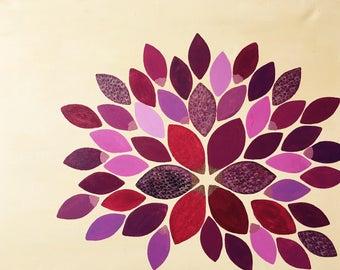 Petal - Hand-painted Acrylic Canvas