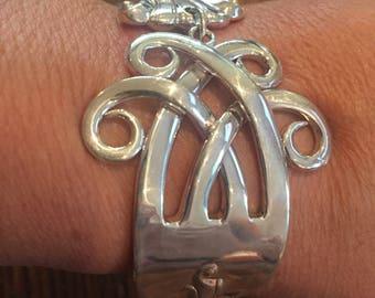 Romance if the Sea-Sterling Silver Fork Bracelet,circa 1950