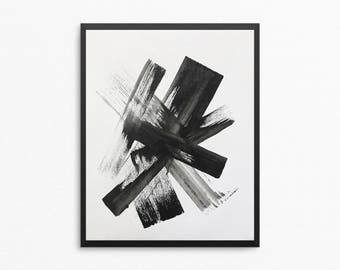 8x10 Painting, Original Abstract Painting, Abstract Art, 8x10 Art, Abstract Painting, Modern Painting, Black and White Art, Minimalist Art