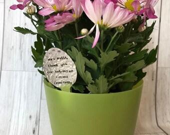 Thank you teacher personalised plant marker teacher gift