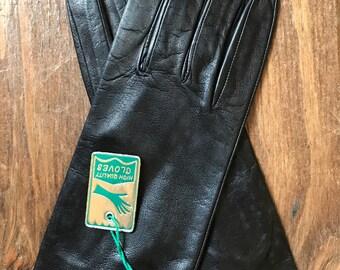 Vintage Leather Black Gloves, Vintage Womens Gloves, Vintage Black Leather Gloves, Vintage Leather Gloves, Vintage Leather Womens Glove