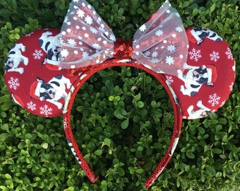 Santa Frenchie Mouse Ears