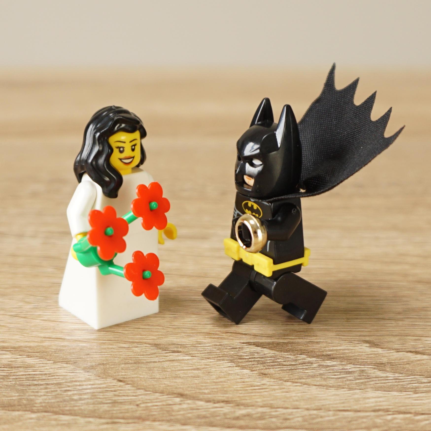 Lego Batman and Lego Bride, Lego Batman Minifigure, Lego wedding ...