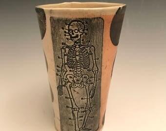 Soda fired skeleton tumbler