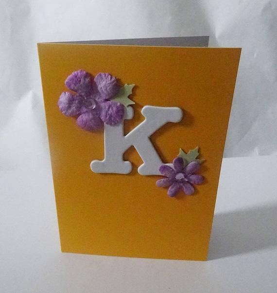 """Monogram/Initial Card - Letter """"K"""""""