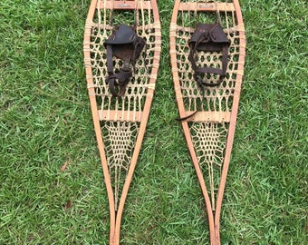 Antique Snow Shoes, Snocraft, Sold By Iver Johnson,