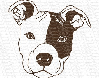 Pit Bull Svg Clipart, Dog vector art by SpeecchBubble