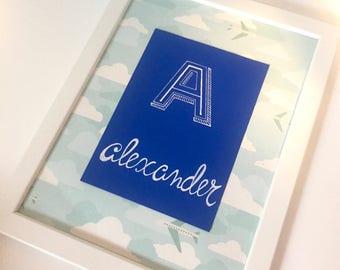 Personalized Nursery Wall Art // Kids room // Nursery // Custom Name Print // Nursery Wall Art // Handwritten // Birthday // Baby Shower