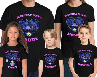 The Little Mermaid Shirt Custom Name & Age  Personalized The Little Mermaid  Birthday Shirt Family Birthday Shirts