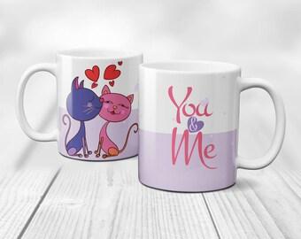 You & Me, Love is in the air, Personalised Love Mug, Humour Love Mug,Coffee Mug, Love gift, Forever Love, So in love