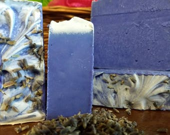 Lavender - Relaxing lavender essential oils in the bar, and  purple color make this bar a favorite.