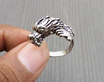 Leopard rings   Ethnic fusion rings   Celebrity silver plated rings   Anniversary gift jewelry ring   Handcrafted fashion wild ring   R121