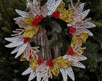 Lace Holiday Wreath