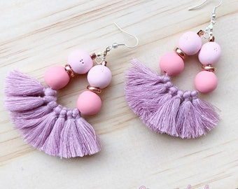 Tassel and Clay earrings