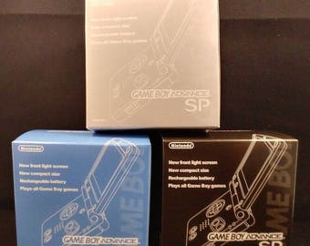 New Game Boy Advance SP Box Pick a Color