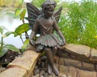 Miniature Pewter Fairies, Miniature Fairy Figurine, Fairy Statue Miniature  Gardens, Home Decor,