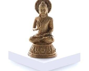 Miniature Brass Buddha in Meditation