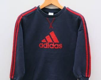 Vintage ADIDAS Big Logo Sportswear Blue Sweater Sweatshirt