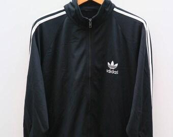 Vintage ADIDAS Sportswear Black Zipper Training Jacket Size XL