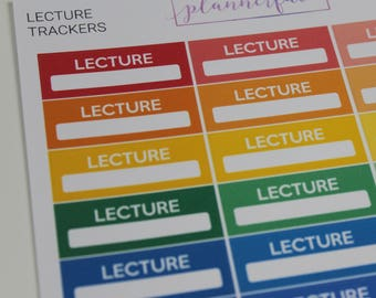 Lecture Trackers | Multicolour Rainbow Functional Stickers for Erin Condren (M038)
