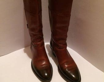 Vintage Gucci Brown Leather Knee High Boots sz EU 36 US 5  UK 3