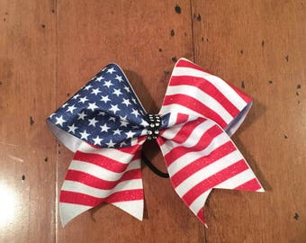 American Flag Sublimated Bow