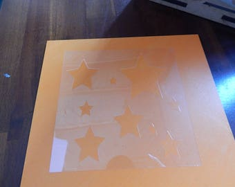 "Stencil Freelance Stars DuraLar .005 (Polyester Film) 5"" x 5"""