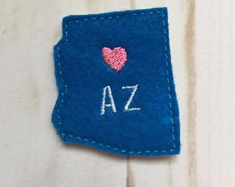 Arizona Feltie Embroidery Design