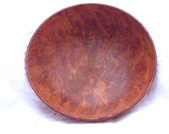 Turned Redwood Burl Dish