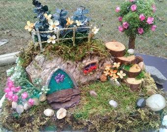 Fairy House, rock house, gardens, minitures, gnome gardens, handmade