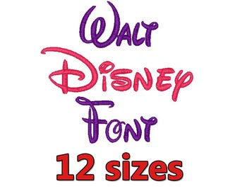 12 Sizes Disney Embroidery Font Format Embroidery Machine,Embroidery Monogram Fonts,Embroidery Fonts