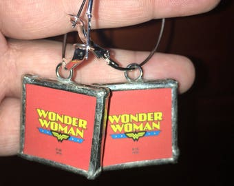 Wonder Woman earrings hypoallergenic