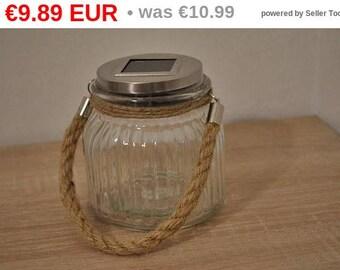 10%OFF Solar led light lantern mason jar / solar lights / solar lanterns / garden lights / nights lights / rustic lantern / camping lights
