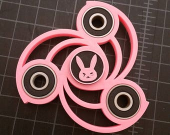 Overwatch D.Va Triple Spinner - Fidget hand Finger Toy - 3D Printed - Hand Spinner EDC Focus - ADHD