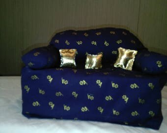 Navy & Gold Tissue Box Cover