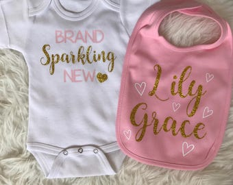 Personalized bib, First birthday bib, smash the cake bib, newborn bib, smash the cake outfit, cake smash outfit, cake smash bib