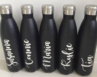 Custom Made Personalised Water Bottles