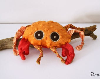 Sweet crab blankie - Stuffed Animal - Baby Shower Gift - Baby gift