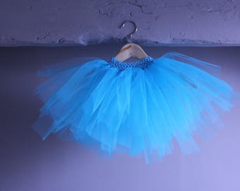 Ballerina 2 to 5 years old blue turquoise belt with matching Tutu