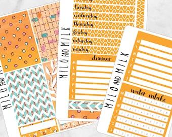 Orange Crush Kit | Bullet Journal + Planner Stickers