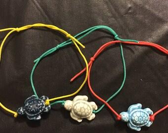Colorful Turtle Pullcord Bracelet