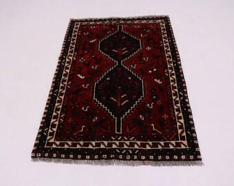 Amazing Great Shape Tribal Small Shiraz Persian Rug Oriental Area Carpet 3X5