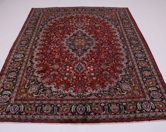 Amazing Traditional Handmade Plush Mashad Persian Rug Oriental Area Carpet 10X13