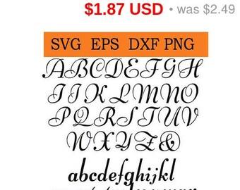 Sale 25%  -  Digital Wedding Font in SVG / Eps / Dxf / Jpg files INSTANT DOWNLOAD!